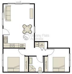 Image result for vintage 2 bedroom english granny flat]