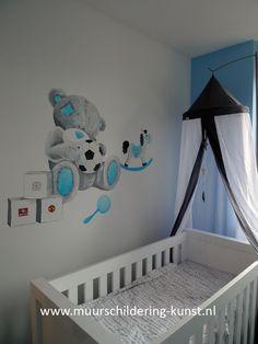me2you muurschildering babykamer jongen