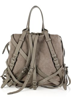 Alexander Wang | Kirsten multi-strap suede tote | NET-A-PORTER.COM £693.62