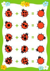 Counting Game for Preschool Children. Kindergarten Centers, Preschool Worksheets, Kindergarten Activities, Math Centers, Learning Activities, Preschool Activities, Kids Learning, 1st Grade Math, Math For Kids