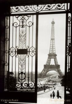 Views of Paris ~ The Eiffel Tower (1925) • art print: Gall ☛ http://www.art.com/gallery/id--a30549/gall-posters.htm?ui=8D84249ECCCD49BD8F3EDD084E3D4E00