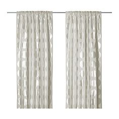 NINNI RUND  Curtains, 1 pair, light beige  $99  Article Number : 002.016.97  Length: 250 cm  Width: 145 cm  Weight: 1.00 kg
