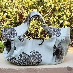 Flowie Garden Love Dumpling Bag - Dusty Blue  $52