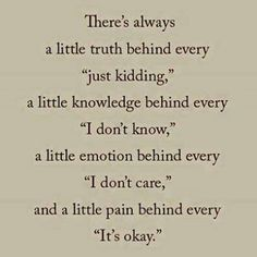 There's always....
