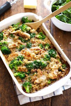 Creamy Chicken Quinoa and Broccoli Casserole | Best Recipes Ever