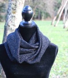 Tinsel Infinity Knit Scarf. Vital Outburst RTW Fall/Winter 2013 Collection by Aimée Wells. Free shipping + gift wrapping on all orders: www.vitaloutburst.com $25 #style #soft #black #knit #gold #tinsel #sparkle #vegan #handmade #USA #clothing #fashion #Portland #Oregon #eternal #layers #organic #rtw #affordable #local #designer #outside #teens #women #girls #sale #giveaway #facebook #eco-friendly #label #line #gift #shipping #limited #cozy #versatile #convertible #functional #circle #warm