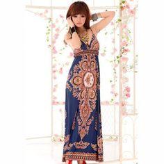 Estilo de la moda sexy y delgada azul oscuro vestido largo sin respaldo para Vender - La Tienda En Online IGOGO.ES