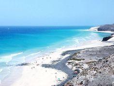 Playas de Sotavento, sureste de Fuerteventura Vista panorámica de El Salmo y Boca de Mal Nombre  Foto de Home Canarias
