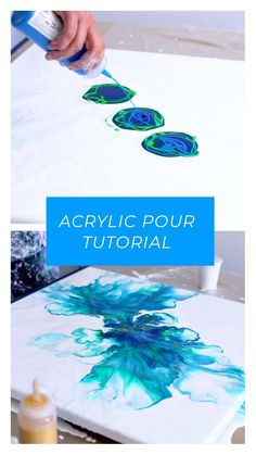 Big canvas acrylic pour tutorial fluid painting - ART:Ideas (painting) - Video tutorial how to make a big dutch pour acrylic pouring fluid art painting - Pour Painting Techniques, Acrylic Pouring Techniques, Acrylic Pouring Art, Acrylic Art, Painting Videos, Flow Painting, Diy Painting, Diy Wall Art, Diy Artwork