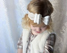 Animal Print Bow Headband by LilMajestyBoutique on Etsy