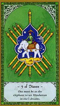 Nine of Staves (Wands)