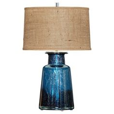 Check out this item at One Kings Lane! Spencer Table Lamp, Blue