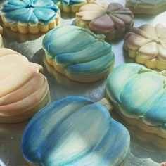 Pumpkin Cookies, Autumn, Watercolor, Desserts, Food, Pen And Wash, Tailgate Desserts, Watercolor Painting, Deserts