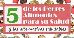Ha continuación la lista de 5 elecciones de alimentos a evitar cada que podamos. http://articulos.mercola.com/sitios/articulos/archivo/2016/05/31/5-de-los-peores-alimentos-en-el-mundo.aspx