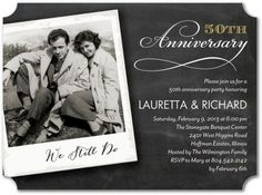 32 Best Wedding Anniversary Party Invitations: Personalized & Inexpensive 32 beste Hochzeitstag-Part 60th Anniversary Parties, 50th Anniversary Invitations, 60 Wedding Anniversary, Parents Anniversary, Golden Anniversary, Anniversary Ideas, Anniversary Surprise, Anniversary Pictures, Unique Invitations