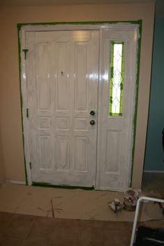 how to paint your front door...