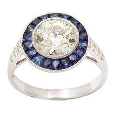 Gorgeous Diamond and Sapphire Ring