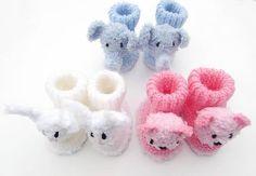 (6) Name: 'Knitting : Animal Baby Booties Set 1