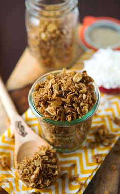 Coconut Vanilla Granola | tablefortwoblog.com Made this 10/7/13 and it was sooo good. I should definitely make it again.