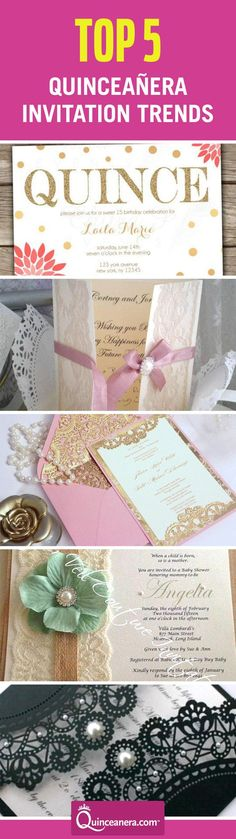 Your Quinceañera invitation is the introduction to your party theme, hence the importance of the design and style. Check these trends now!