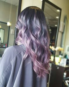 Ashy Purple to Pink Melt Hair Color