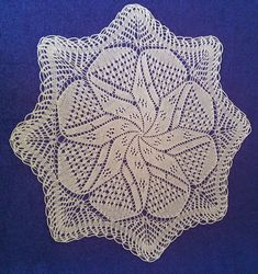 My first knitted napkin \ Napkin is knitted from cotton thread crochet Koral no. 15 Such napkin can be knit in two...