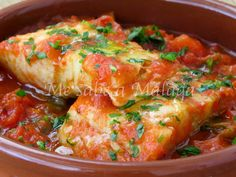Me sabe a Málaga: Bacalao a la cazuela Bacalao Recipe, Kitchen Recipes, Cooking Recipes, Healthy Recipes, Fish Recipes, Seafood Recipes, Carribean Food, Tapas, Octopus