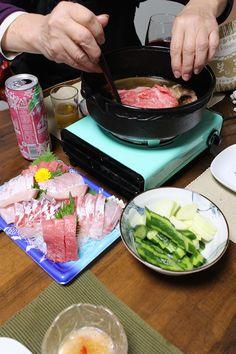 dinner on Sun. 15 Mar. 2015: soft cod roe with grated Daikon & Ponzu, boiled firefly squid with mustard vinegar sauce, platter of Sashimi, home-pickled cucumber & Daikon, Sukiyaki ☞ beef, raw egg, Shirataki, Fu, Chinese cabbage, burdock, Shiitaké, red wine, sake Pickling Cucumbers, Chinese Cabbage, Sashimi, Platter, Vinegar, Cod, Red Wine, Mustard, Beef