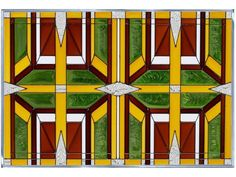 42x10 PRAIRIE Earthy Green Gold Brown Stained Art Glass Window Suncatcher