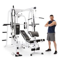 Marcy Diamond Smith Cage Workout Machine Total Body Training Home Gym System, Grey Best Home Workout Equipment, Cardio Equipment, Fitness Equipment, Training Equipment, 20 Years Old, Gym Workouts, At Home Workouts, Workout Gear, Home Gym Machine