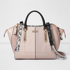 River Island Light Pink Dipped Top Winged Tote Bag