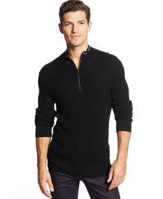 fb3209d2109 Michael Kors Tipped Thermal Quarter Zip Sweater