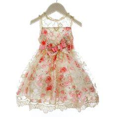 Vestido Infantil de Festa Off White Floral Rosa Petit Cherie de Renda (Tamanho…