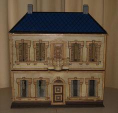 Pieternel Antique Toys, old dollhouse with simple design. .....Rick Maccione-Dollhouse Builder www.dollhousemansions.com