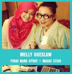 Melly Goeslow with Nano Spray MCI