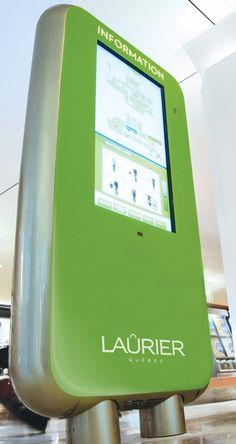 Bornes interactives - Laurier Québec Espace Design, Centre Commercial, Client, Nintendo Consoles, Images, Industrial Design, Spaces