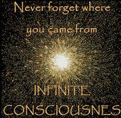 Never forget where you came from INFINITE CONSCIOUSNESS ~Anon I mus (No-self)