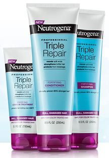 Neutrogena Triple Repair Hair Care reduces breakage by 80%, so hair is left stronger, smoother, and more nourished. It's clinically proven to mend 97% of split ends, strengthen brittle hair and protect from breakage.