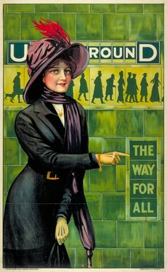 1911: 'The way for all' | 20 Gorgeous Vintage Posters For The London Underground