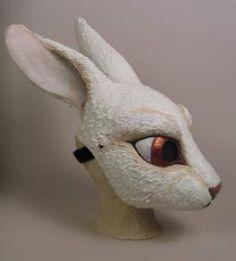 Maskmaking at Sans Souci Studios: White Rabbit Mask Commission Part 2