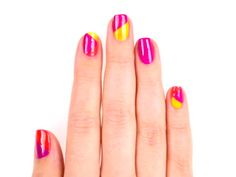 Color-Block Nails