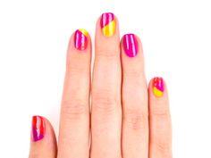 Color-Block Nails