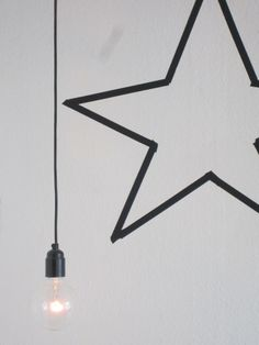 DIY tape idea for christmas: star Star