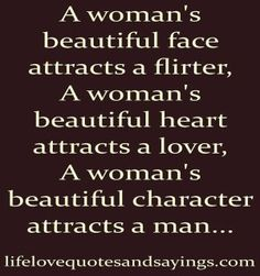 about woman's character...