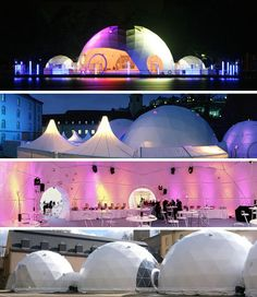 geodesic temporary dome structures