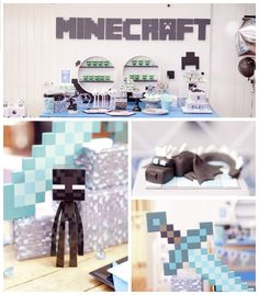 "Details from a ""The End"" Minecraft Inspired Birthday Party via Kara's Party Ideas 