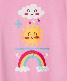 Short Sleeve Print T-Shirt BABY PINK | Bossini