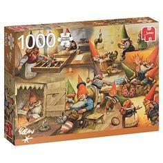 Funny Puzzles, Jigsaw Puzzles, Puzzle 1000, You Funny, Gnomes, Illustrator, Baseball Cards, Vintage Illustrations, Amazon