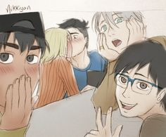 Christmas kiss part 1 Bonus: Phichit took a picture! (click to see full comic ^_^)