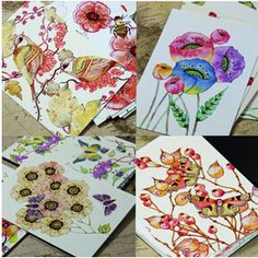 Cheap card antenna, Buy Quality card shelf directly from China painting violin Suppliers:   22pcs/lot Cute Hand Painting Birds and Flowers Fresh Watercolor postcards Wedding Invited Cards Celebrating Congr